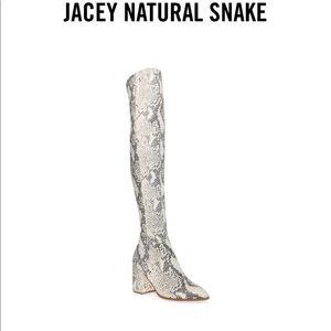 Steve Madden Jacey Snake OTK Boots NIB